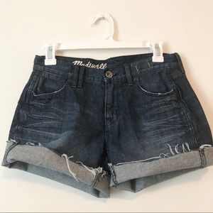 Madewell | 24 | distressed denim shorts | size 2